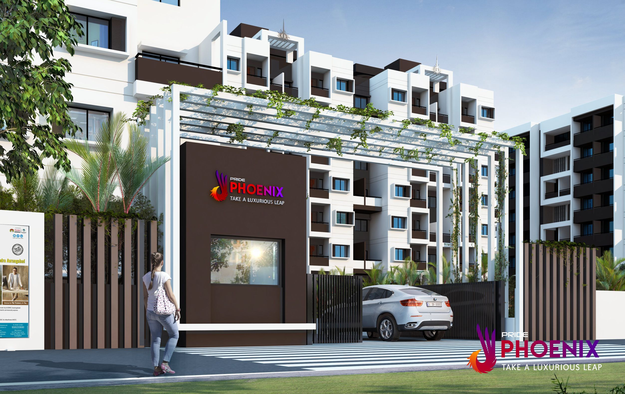 maha rera approved projects branded entrance near airport pride phoenix projects jalna road touch near airport in front of airport aurangabad