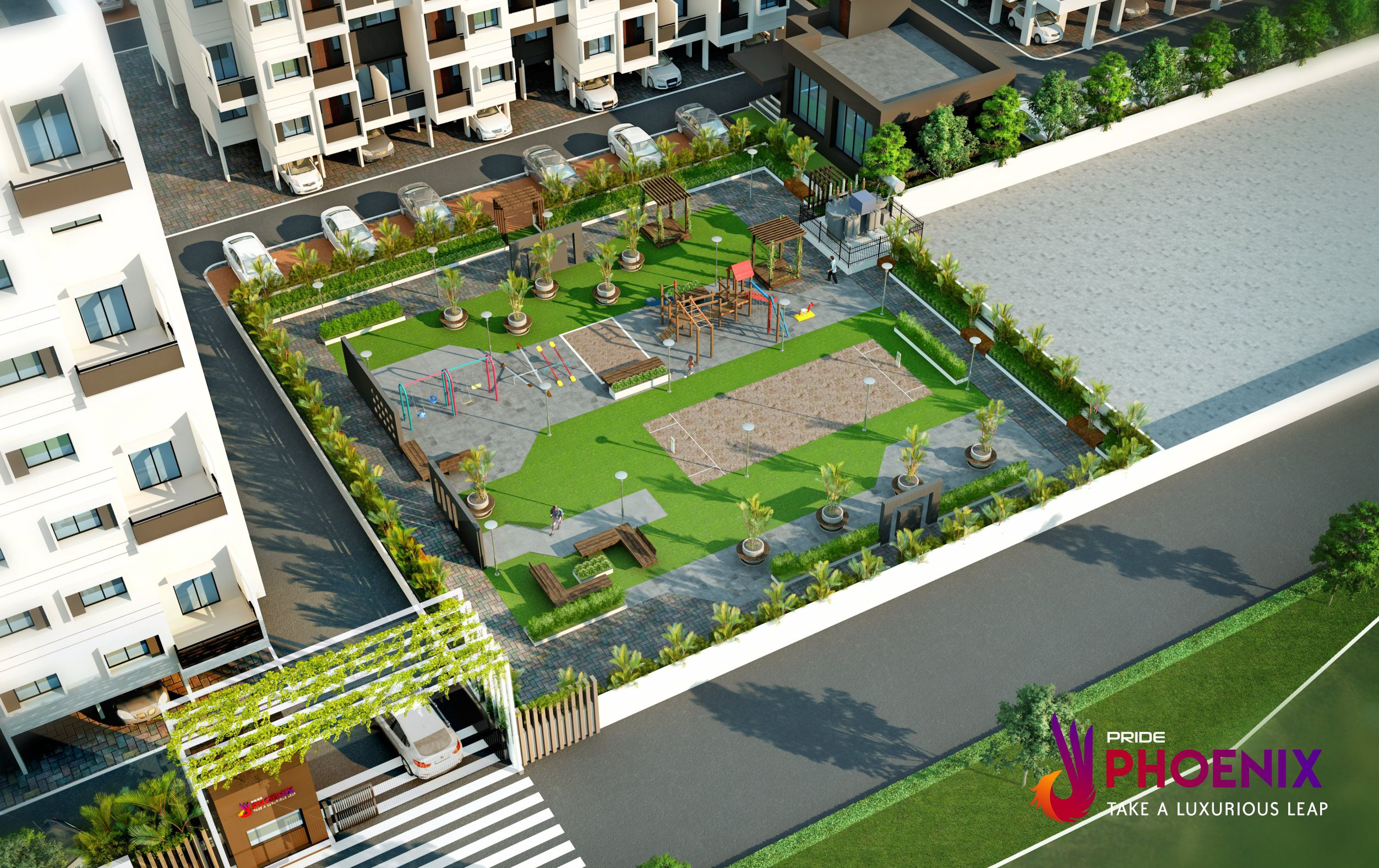 aurangabad flat rate garden area branded pride phoenix 1 2 3 bhk flat with amenities pride phoenix
