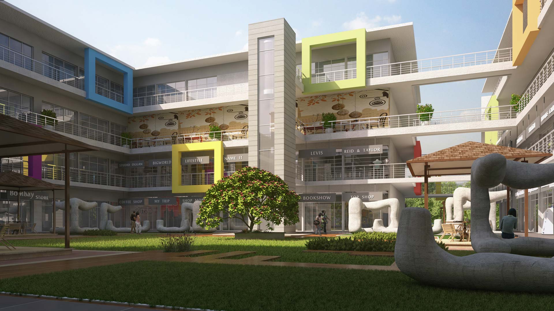 gcc commercial spaces shops show rooms office with best amenities near prozone mall pride group best builder in aurangbad