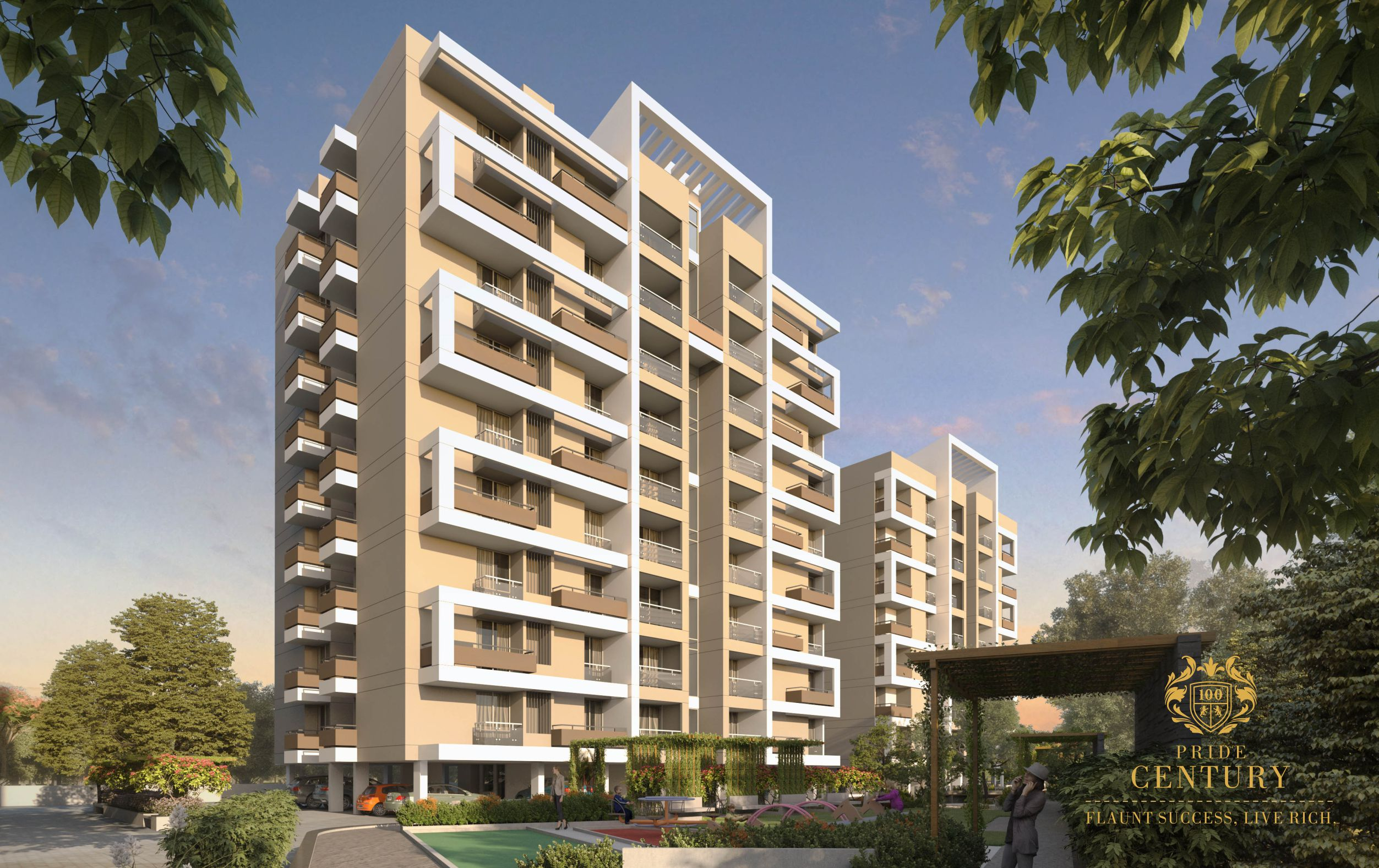 most trusted builders pride century flats with all facilities at kalda corner in aurangabad-properties-real-estate-luxurious flats