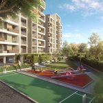 builder navin bagadia pride century sports area stylish pride century 3 bhk flats play ground at shreya nagar in aurangabad