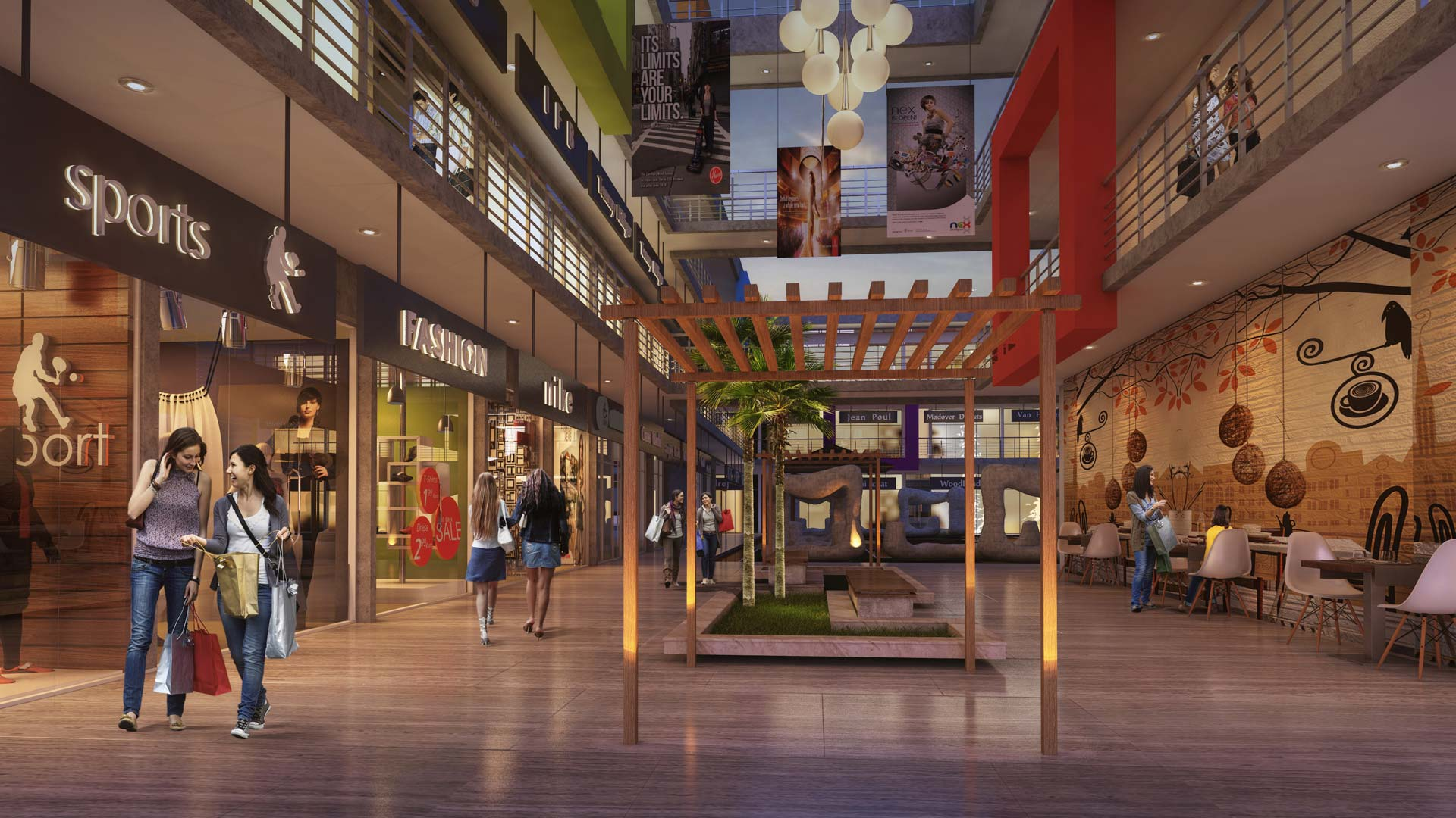 shopping stores offices showrooms at golden city center near prozone mall top real estate projects pride group